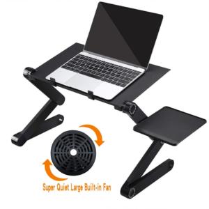 Подставка для ноутбука с регулируемым наклоном и вентилятором охлаждения.