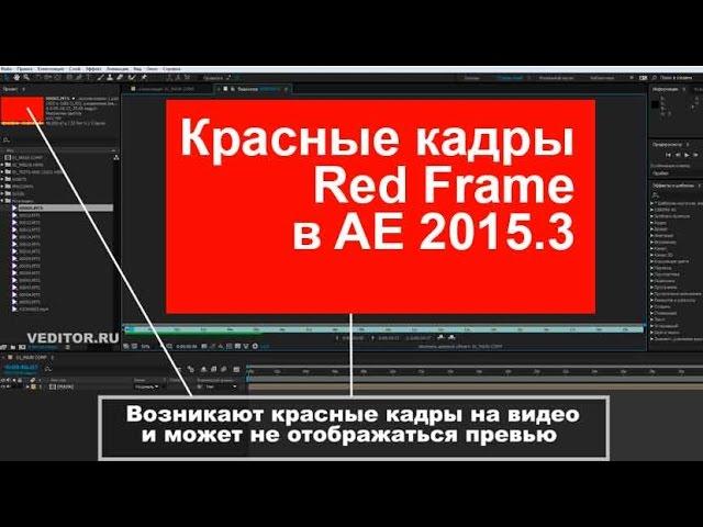 Красные кадры (Red frame) в After Effects 2015.3