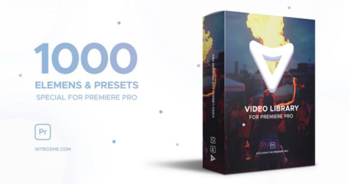 Video Library for Premiere Pro - 1000 elemens presets 22656876