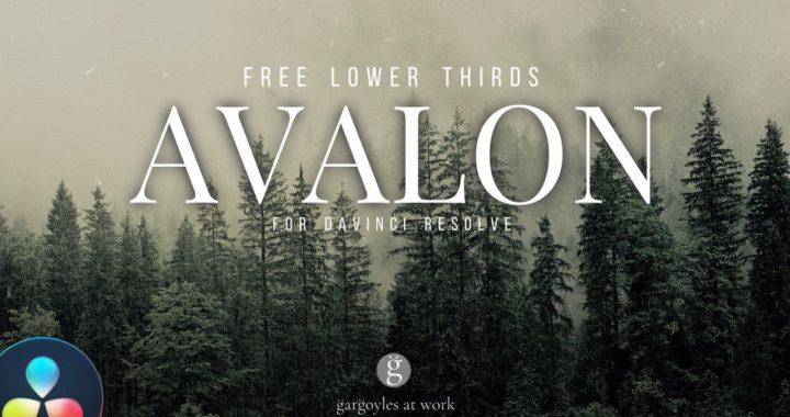 Avalon для Davinci Resolve